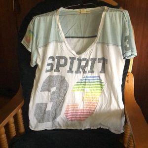 Vintage L T-shirt reversible